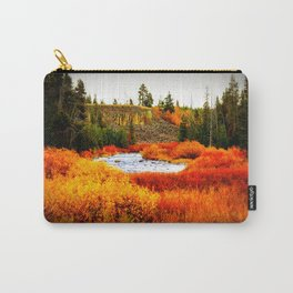 Gold and Copper Leaves Carry-All Pouch