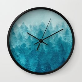 Misty Pine Forest 2 Wall Clock