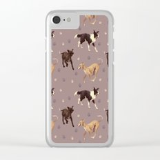 Rescue Dogs Pattern Clear iPhone Case
