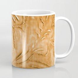 Golden Tan Tooled Leather Coffee Mug