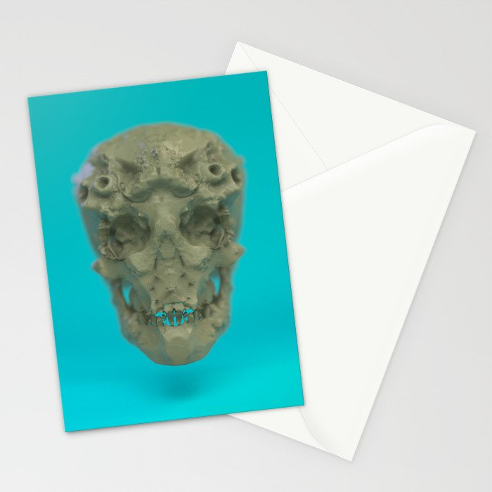 Skull Coral Reef Stationery Cards