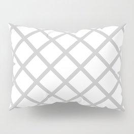 Criss-Cross (Gray & White Pattern) Pillow Sham