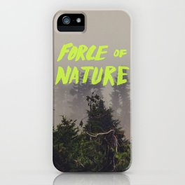 Force of Nature x Cloud Forest iPhone Case