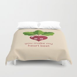 You Make My Heart Beet Duvet Cover