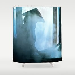 Rice paper production of  Vietnam Shower Curtain