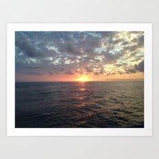 Sunset, Florida Keys Art Print