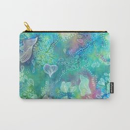 Water colors 3 - Blue and green corals Carry-All Pouch