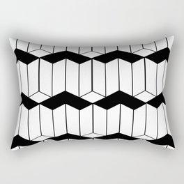 L shaped 3d block art Rectangular Pillow