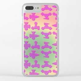V2 pattern Clear iPhone Case