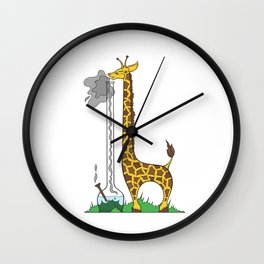Long Long Giraffe Bong Wall Clock