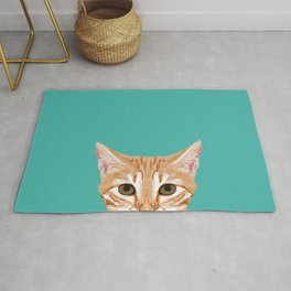 Tabby orange cat head cat breed gifts cute tabby cats must haves Rug