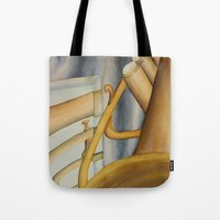 trumpet Tote Bags featuring Trumpet by Erin Schamberger
