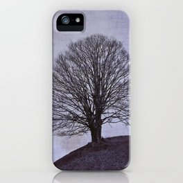Tree in purple iPhone Case