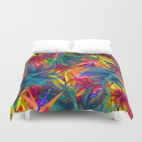 tropical Duvet Covers featuring tropical by mark ashkenazi