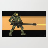 master chief Area & Throw Rugs featuring Master Chief by Arnix