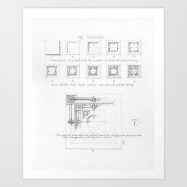 Master Copy of Louis Sullivan's System of Ornament - Plate 1 Art Print