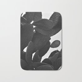 Cactus in Black And White Bath Mat