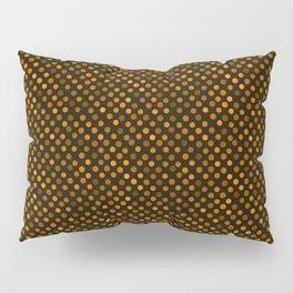 Retro Colored Dots Fabric Pumpkin Orange Pillow Sham