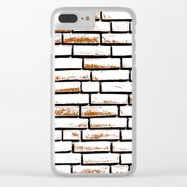 Brick wall 1 Clear iPhone Case
