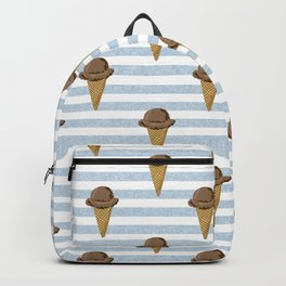 ice cream cones stripes food fight apparel and gifts Backpack