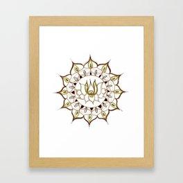 Lotus Henna Mandala Framed Art Print