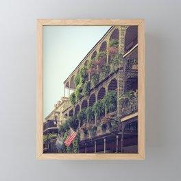 French Quarter Balconies - Royal Street Framed Mini Art Print