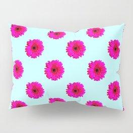 Pixel Art Flower Pattern Pillow Sham