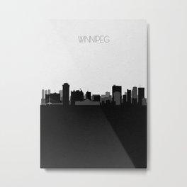 City Skylines: Winnipeg Metal Print