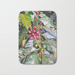 Coffee Plant Botanical, Colombia Bath Mat