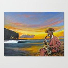 Haitian Sax Canvas Print