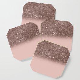 Rose Gold Glitter Ombre Coaster