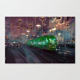 The Essence of Croatia - Zagreb Night Tram Canvas Print