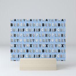 ABC Blue Mini Art Print