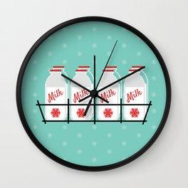 8 Maids a Milking Wall Clock