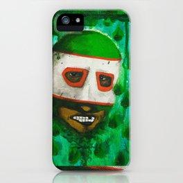 Lucha Libre-green arrow iPhone Case