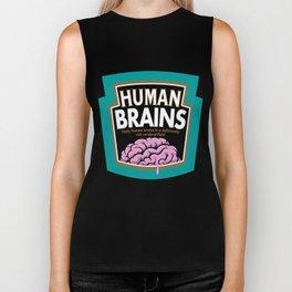 Human Brains Biker Tank