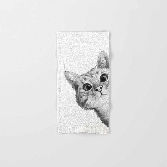 sneaky cat Hand & Bath Towel