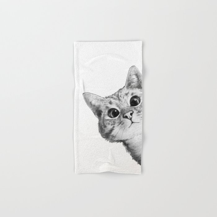 sneaky cat Hand & Bath Towel