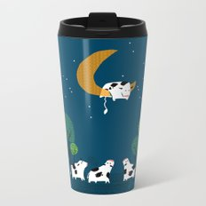 A cow jump over the moon Metal Travel Mug