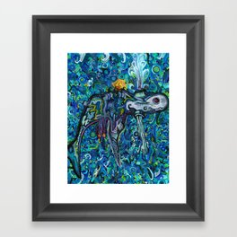 Light Whale Framed Art Print