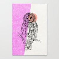 techno Canvas Prints featuring Techno Owl by Zeke Tucker