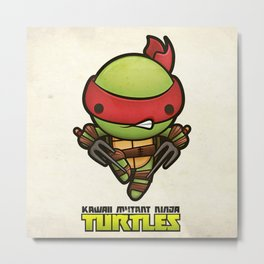 Raphael - Kawaii Mutant Ninja Turtles Metal Print