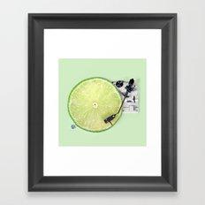 LIME DJ Framed Art Print