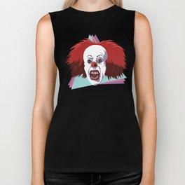 Evil clown it halloween Biker Tank