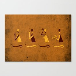Forms of Prayer - Yellow Canvas Print