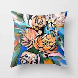 Vibrant Floral Throw Pillow