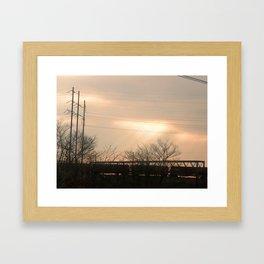 Light Train Framed Art Print