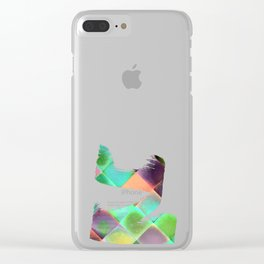 CHECKED DESIGN II-v12 Clear iPhone Case