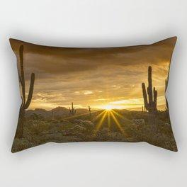 A Southwestern Sunrise Rectangular Pillow