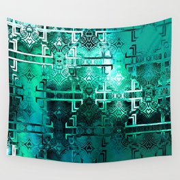 1001 Lights Pattern (emerald jungle) Wall Tapestry